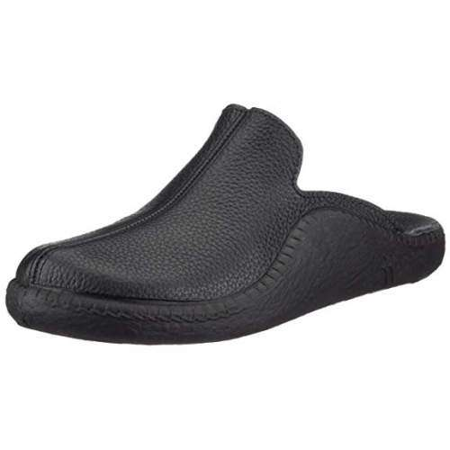 Romika Mokasso 202 Mens Black Leather Slipper