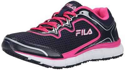 Fila Womens Memory Fresh Start Slip Resistant Work Shoe