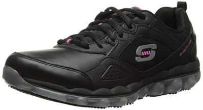 Women's Skechers for Work Skech Air Slip Resistant Lace Up