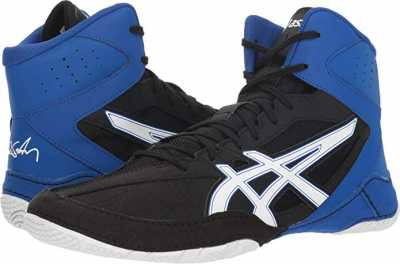 ASICS Caelr V8.0 Black or White Mens Wrestling Shoes