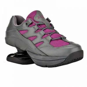 Z CoiL Pain Relief Footwear Womens Freedom Slip Resistant Fuchsia Leather Shoe