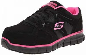 Skechers for Work Womens Synergy Sandlot Alloy Toe Lace Up Work Shoe