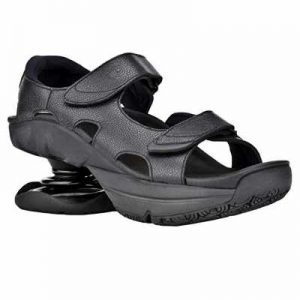 Z CoiL Pain Relief Footwear Womens Sidewinder Black Sanda